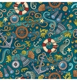 Cartoon nautical seamless pattern vector image vector image
