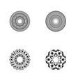 circular pattern in form mandala vector image