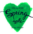 colorful crayon scribble heart poster spring sale vector image