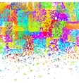 colorful spotted background vector image vector image