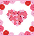 cute roses pattern cartoon vector image