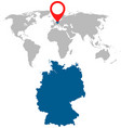 detailed map of germany and world map navigation vector image vector image