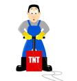 Detonating TNT vector image vector image