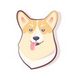 dog emoticon sly puppy icon vector image