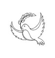 dove of peace with a twig vector image vector image