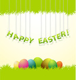 Easter colored eggs greeting card vector image