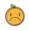 emoji - angry orange isolated vector image vector image