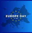 europe day 9th may europe map concept background vector image vector image