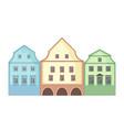 european style classic buildings facade vector image