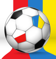 Football ball with Poland and Ukraine flags