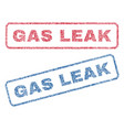 gas leak textile stamps vector image vector image