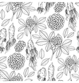 Graphic ginseng pattern vector image