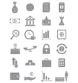 Gray finance icons set vector image vector image