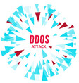 hacker ddos attack protection vector image