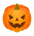 halloween pumpkin icon isometric style vector image