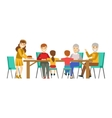 Happy Family Having Good Time Together Gathering vector image vector image