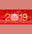 happy new year 2019 chinese new year greetings vector image