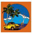 Hawaiian grunge scene vector image vector image