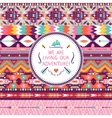hipster seamless colorful tribal pattern vector image
