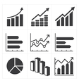 icon set of diagram and graphs Business vector image vector image