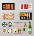 Infographic japanese foods business flat lay idea vector image vector image