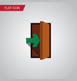 isolated entry flat icon entrance element vector image vector image