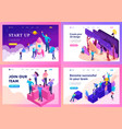 isometric teamwork concept brainstorming vector image vector image