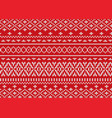 knit geometric ornament design christmas seamless vector image vector image