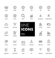 line icons set finance vector image vector image