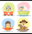 Little boy in cute costumes vector image vector image