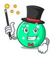 magician circle mascot cartoon style vector image