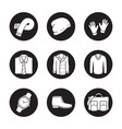 mens clothes and accessories icons set vector image
