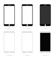 mobile phone modern technology set vector image vector image
