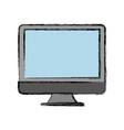 monitor computer icon vector image vector image
