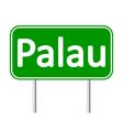 Palau road sign vector image vector image
