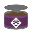 pet canned food icon on white background vector image vector image