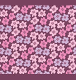 pink color summer floral in retro 60s style vector image vector image