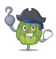 pirate artichoke character cartoon style vector image vector image