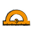 protractor ruler icon vector image