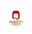 quantity surveyor service badge vector image
