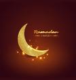 ramadan kareem glitter design vector image vector image