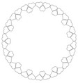round decorative frame decorative frame in the vector image