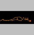 salzburg light streak skyline vector image vector image