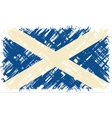 Scottish grunge flag vector image vector image