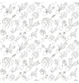 Seamless cactus pattern vector image vector image
