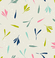 seamless pattern with silhouettes leaves and vector image vector image