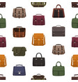 seamless pattern with trendy men s bags or vector image vector image