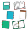 set of notebook vector image