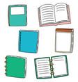 set of notebook vector image