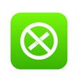sign prohibiting smoking icon digital green vector image vector image